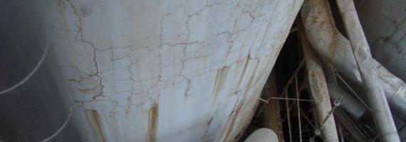 Inspección estado actual silo de hormigón armado
