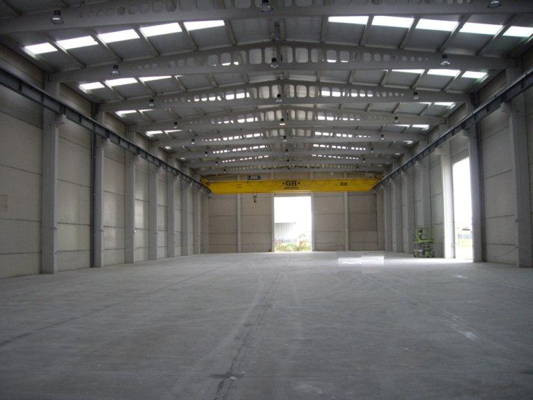 Proyecto nave industrial para almacén de grandes componentes en central térmica de ciclo combinado