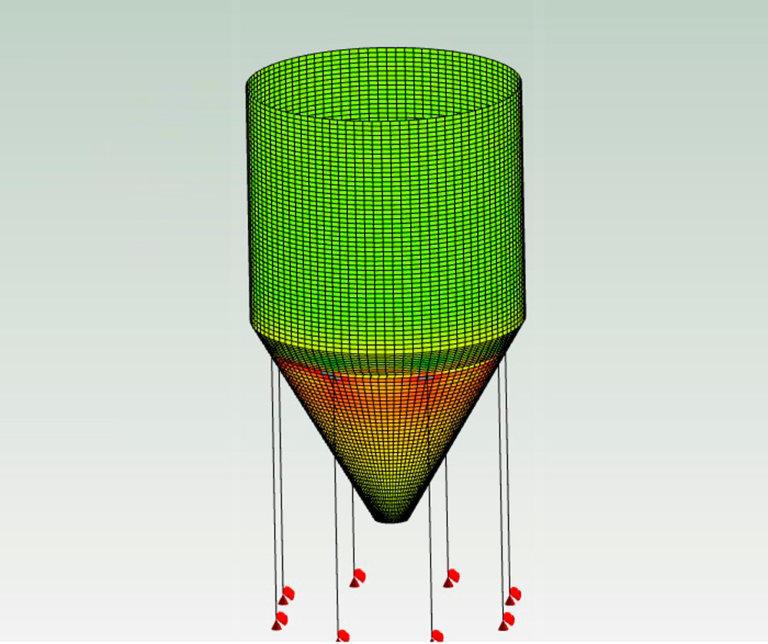Análisis y simulación de silo escoria de hormigón armado