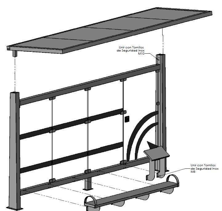 Cálculo y simulación elementos para mobiliario urbano