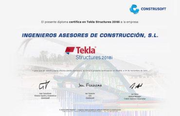 Ingenieros Asesores se certifica en Tekla Structures