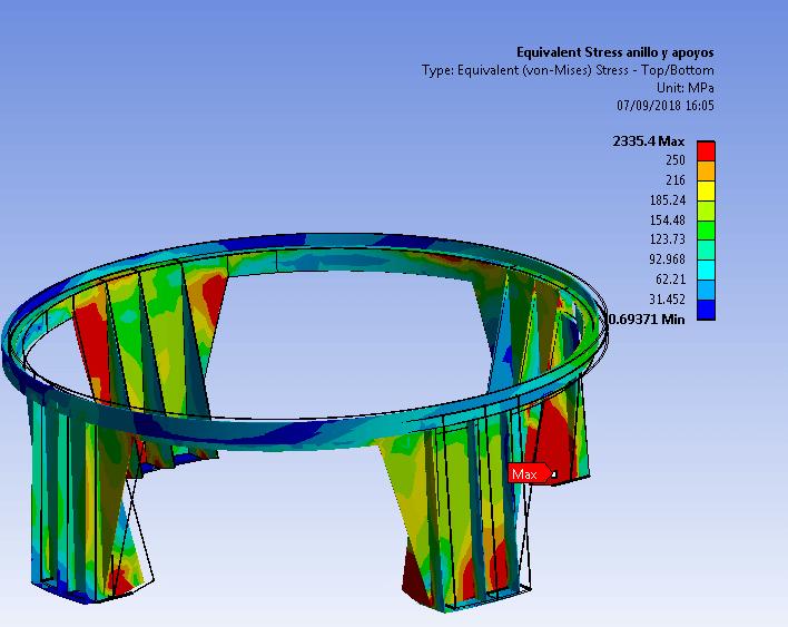 Simulación de tolva de mineral
