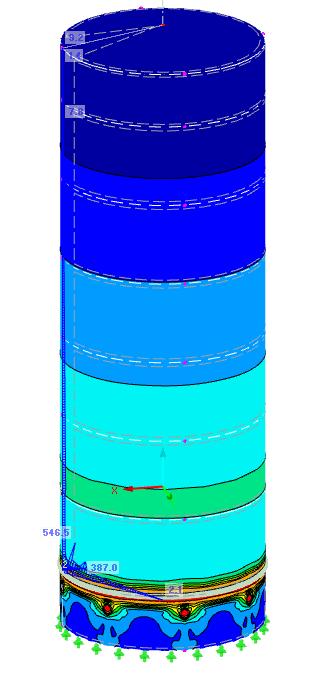 Análisis estructural del colapso de depósito de almacenamiento