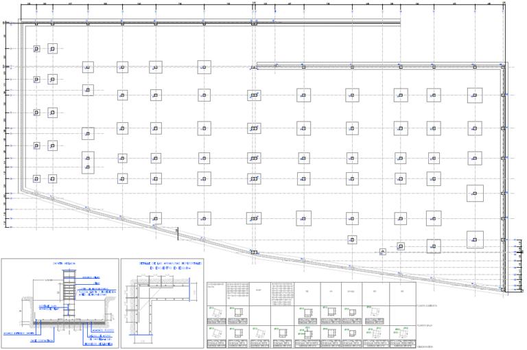 cimentación y estructura para edificio de supermercado