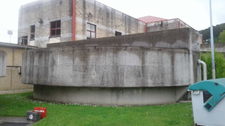 Proyecto de reparación de las estructuras de hormigón de una EDAR