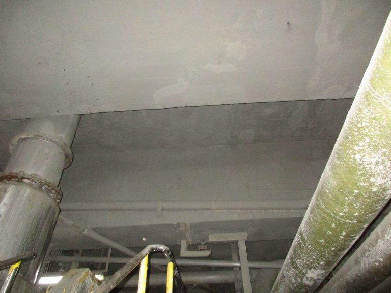 Reparación y refuerzo en losa de techo de una fábrica