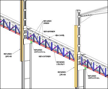Estudio de estado de estructura de nave de chatarra