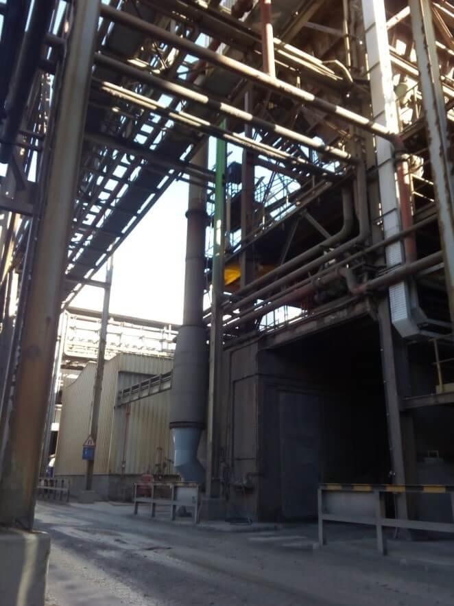 Instalación de aire comprimido de sopladores para hornos y calderas