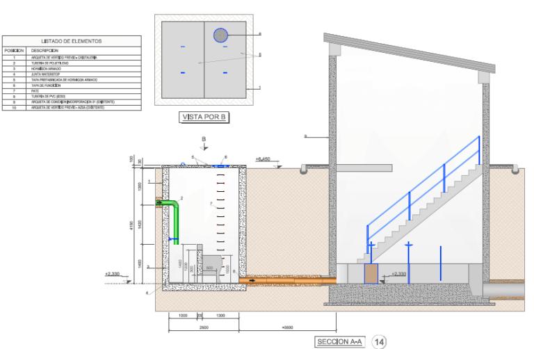 Planos proyecto de segregación de aguas residuales en factoría