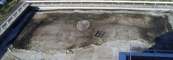 Prueba de estanqueidad en cubierta edificio Parque Tecnológico