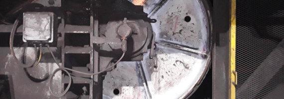 Inspección soldaduras por líquidos penetrantes tambores cinta transportadora de mineral