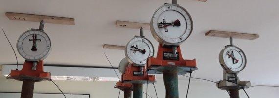 Prueba de carga en forjado de subestación eléctrica