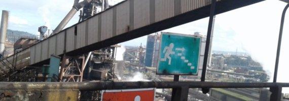Inspección cintas transportadoras en acería